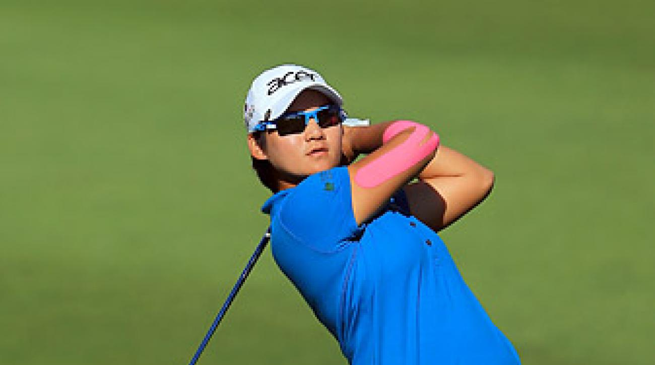 Yani Tseng shot a 68 in the second round to take the lead at the Kraft Nabisco Championship.