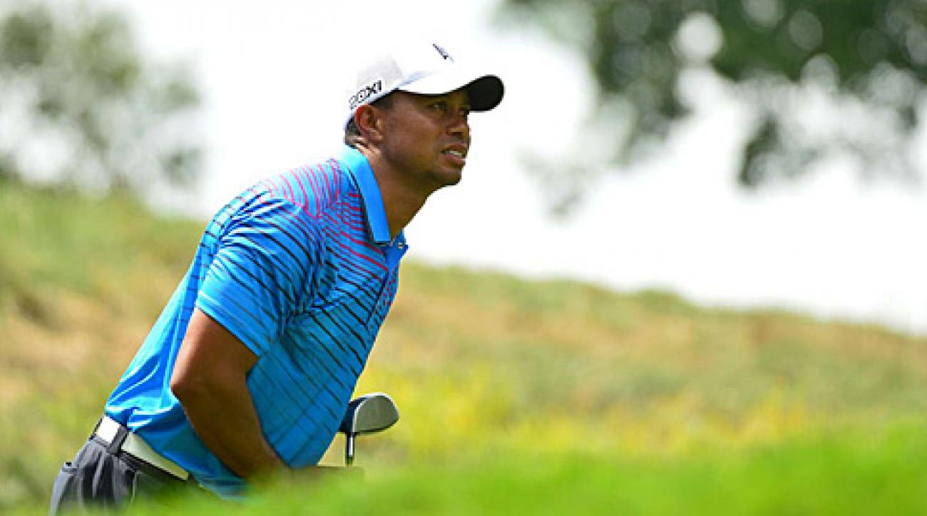 Tiger Woods made four birdies and two bogeys on Friday.