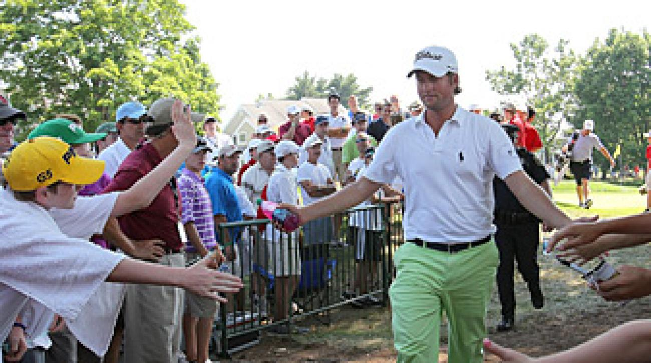 Webb Simpson made five birdies and one bogey.
