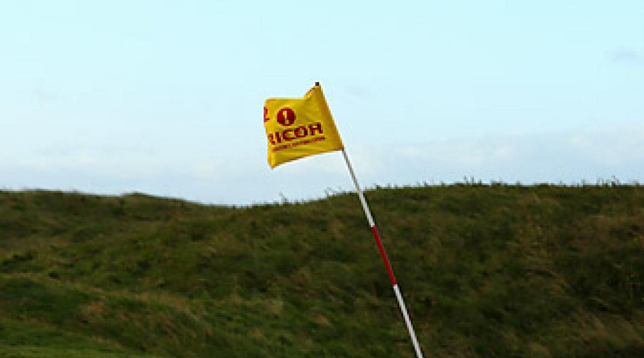 Players experienced winds up to 60 mph before play was called off.