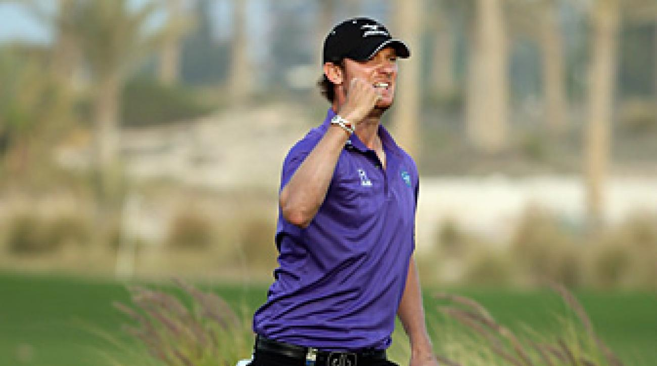 Chris Wood eagled the 18th for his first European Tour victory.