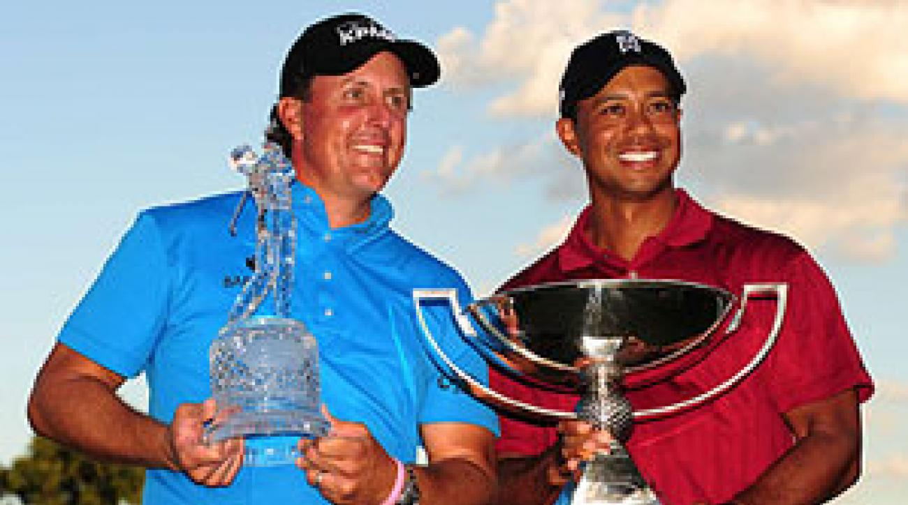Tiger Woods and Phil Mickelson both went home with a trophy on Sunday.