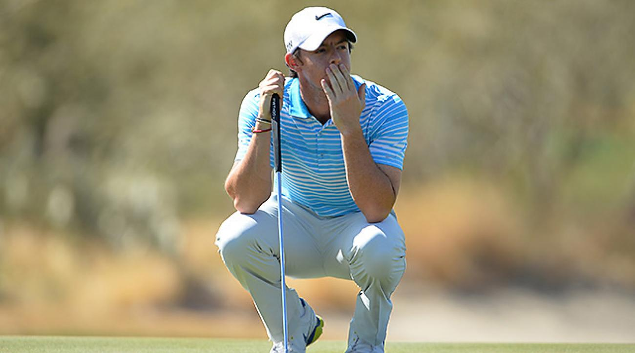 No. 1 seed Rory McIlroy fell to Harris English on day 2.