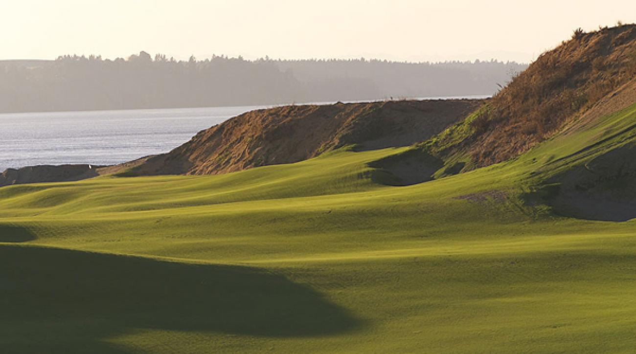 Chambers Bay Awarded 2015 U.S. Open                           The United States Golf Association has announced that the 2015 U.S. Open and 2010 U.S. Amateur Championship will be played at Chambers Bay, a seven-month-old municipal golf course near Tacoma, Wash. Take a look at this amazing new Robert Trent Jones Jr. course, which was awarded the top spot on GOLF Magazine's 2007 list of the Top 10 New Courses You Can Play.                                                      Hole No. 1                           498 yards, par 4