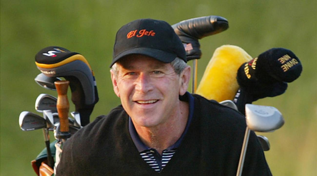 Former president George W. Bush is an avid golfer.