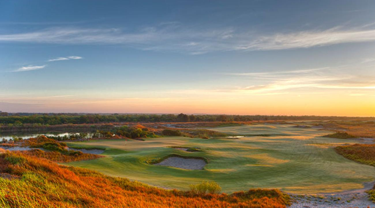 The 12th hole on the Blue Course at Streamsong.