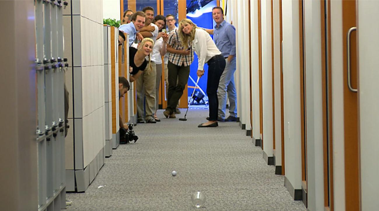 Paula Creamer Drains 70-foot Office Putt