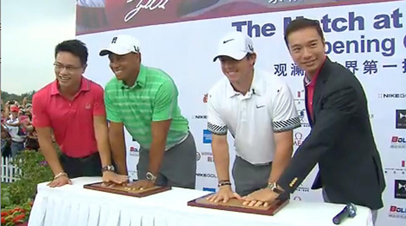 Tiger vs. Rory: Behind the scenes in China
