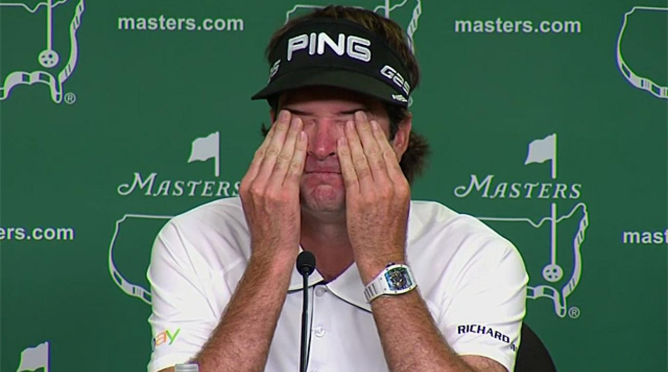 Bubba Watson gets emotional at Masters press conference