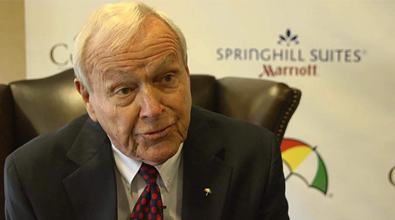 Arnold Palmer talks about his new hotel in hometown of Latrobe, Pa.