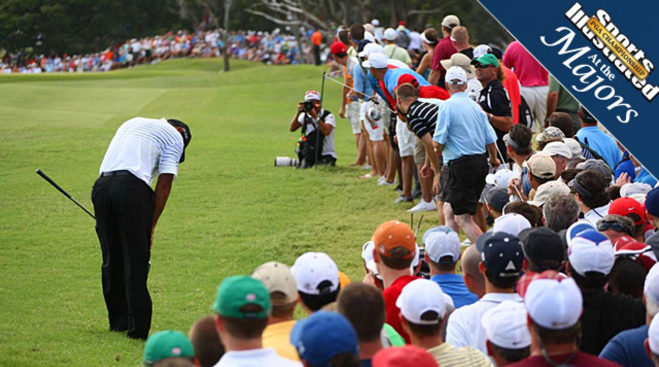 Rain delay at PGA Championship came just in time for Tiger Woods