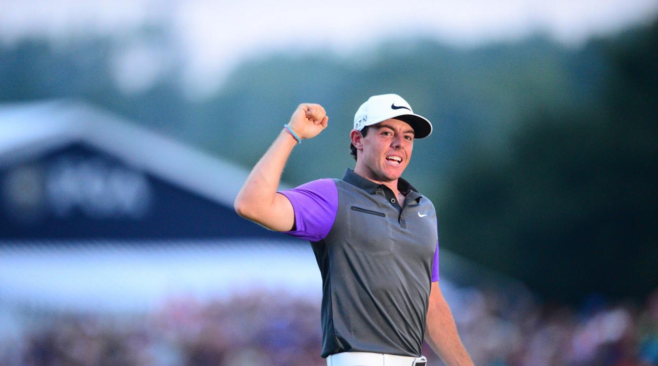 Rory McIlroy celebrates his win at 2014 PGA Championship at Valhalla.