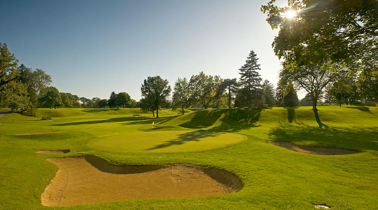 The 15 hole of the Inverness Club in Toledo, Ohio.