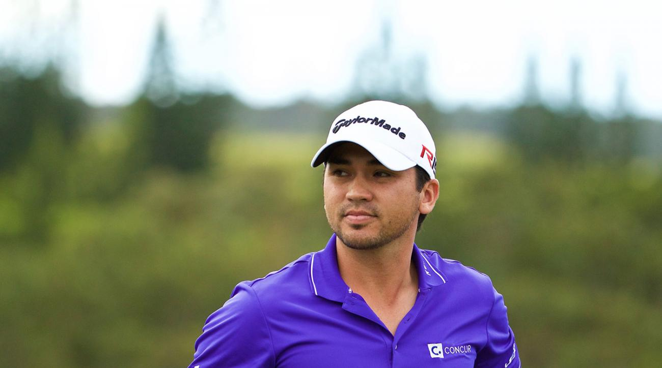 Jason Day plays the pro-am prior to the Hyundai Tournament of Champions.