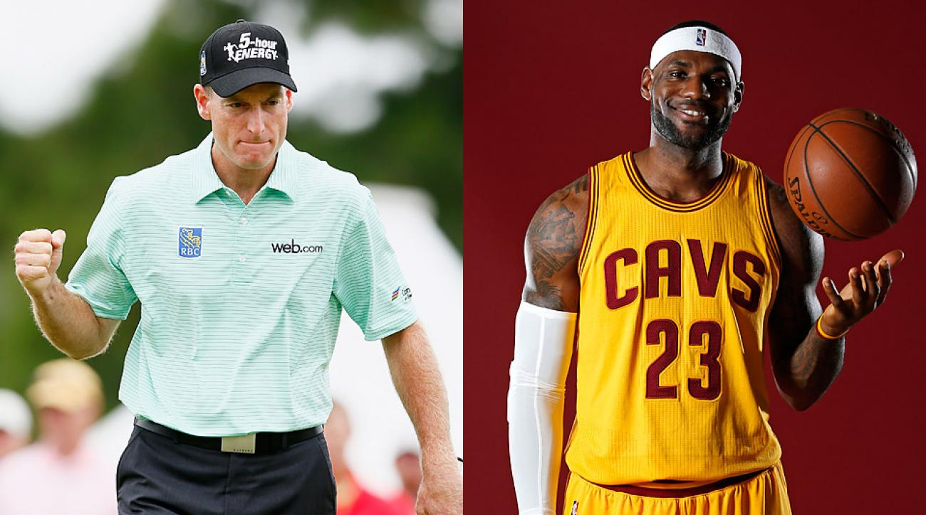 Jim Furyk (left) and the Cleveland Cavaliers' LeBron James.