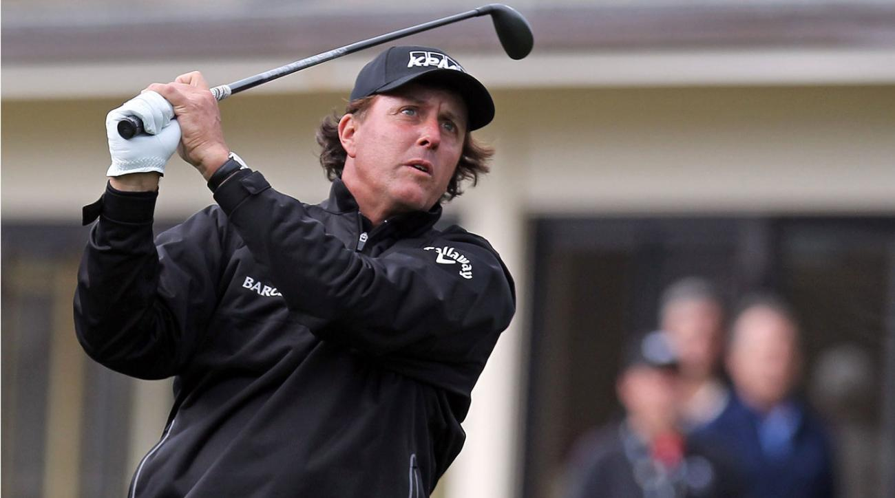 Phil Mickelson plays the 2014 AT&T National Pro-Am at Pebble Beach.
