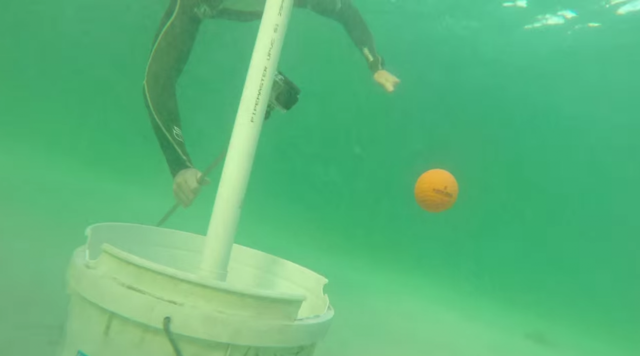 How Ridiculous captured this first: an underwater hole-in-one.