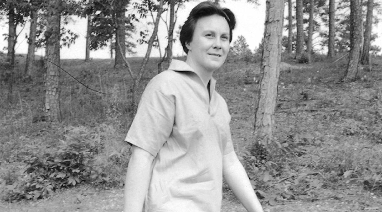 Author Harper Lee playing golf at local country club, 1961.  [Scanned from contact sheet.]