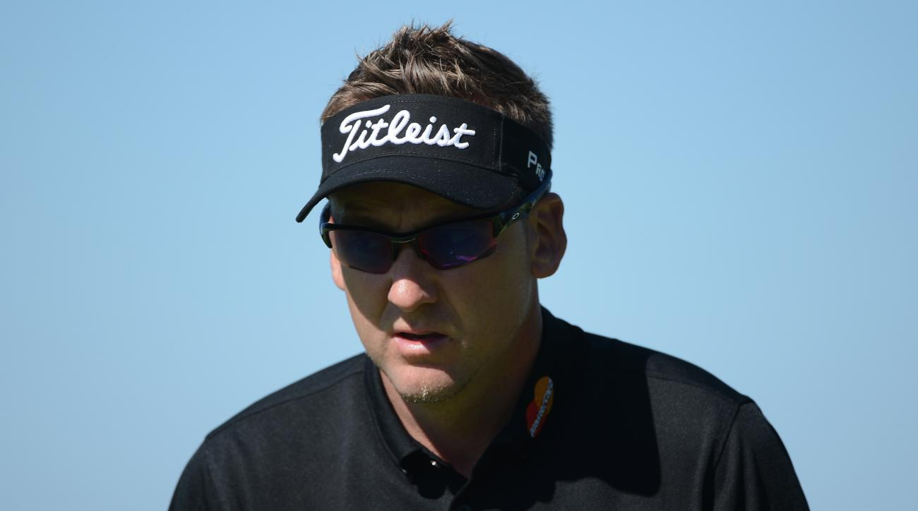 Ian Poulter shot an even-par 72 at Torrey Pines on Saturday.