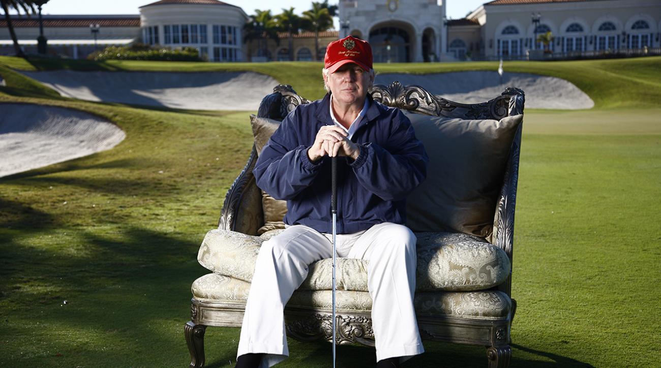 Donald Trump at Trump International in West Palm Beach, Fla.