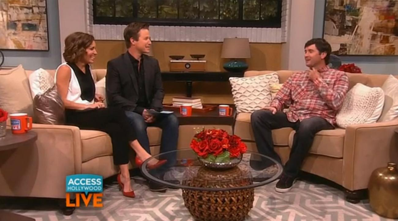 Bubba Watson during his interview on 'Access Hollywood.'