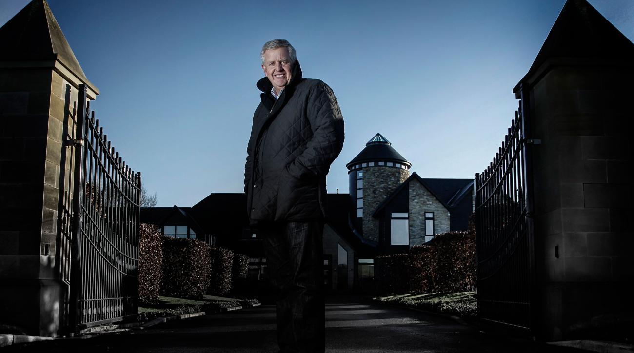 Colin Montgomerie at his home near Gleneagles in Scotland.