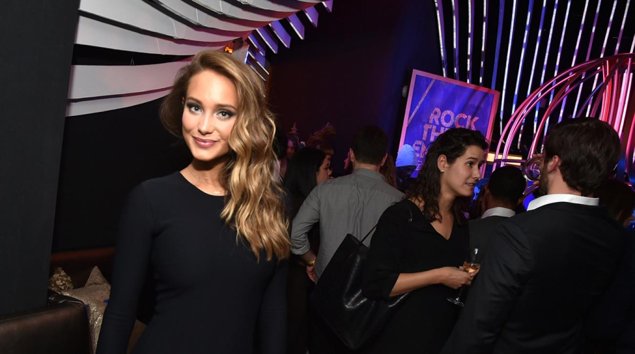 Hannah Davis, the SI Swimsuit Issue's cover girl, attends W Hotels Kicks Off Global 'Rock the Empire' tour to celebrate the opening of W Beijing At W New York on Feb. 19.