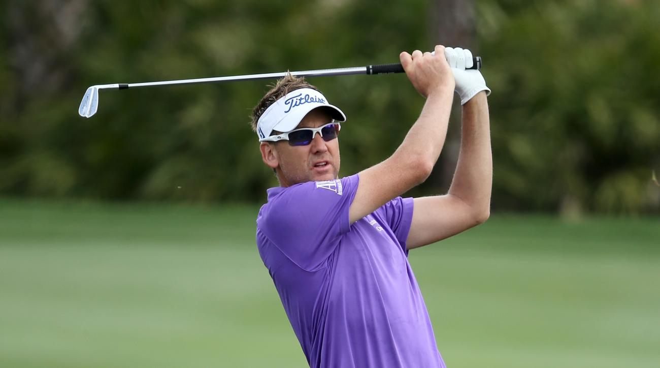 Ian Poulter plays a shot from the fourth fairway during the third round of the 2015 Honda Classic.