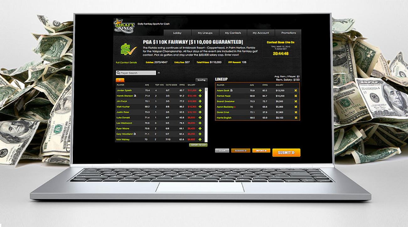 Users select six golfers per event in DraftKings contests. Payouts can climb into the six figures.