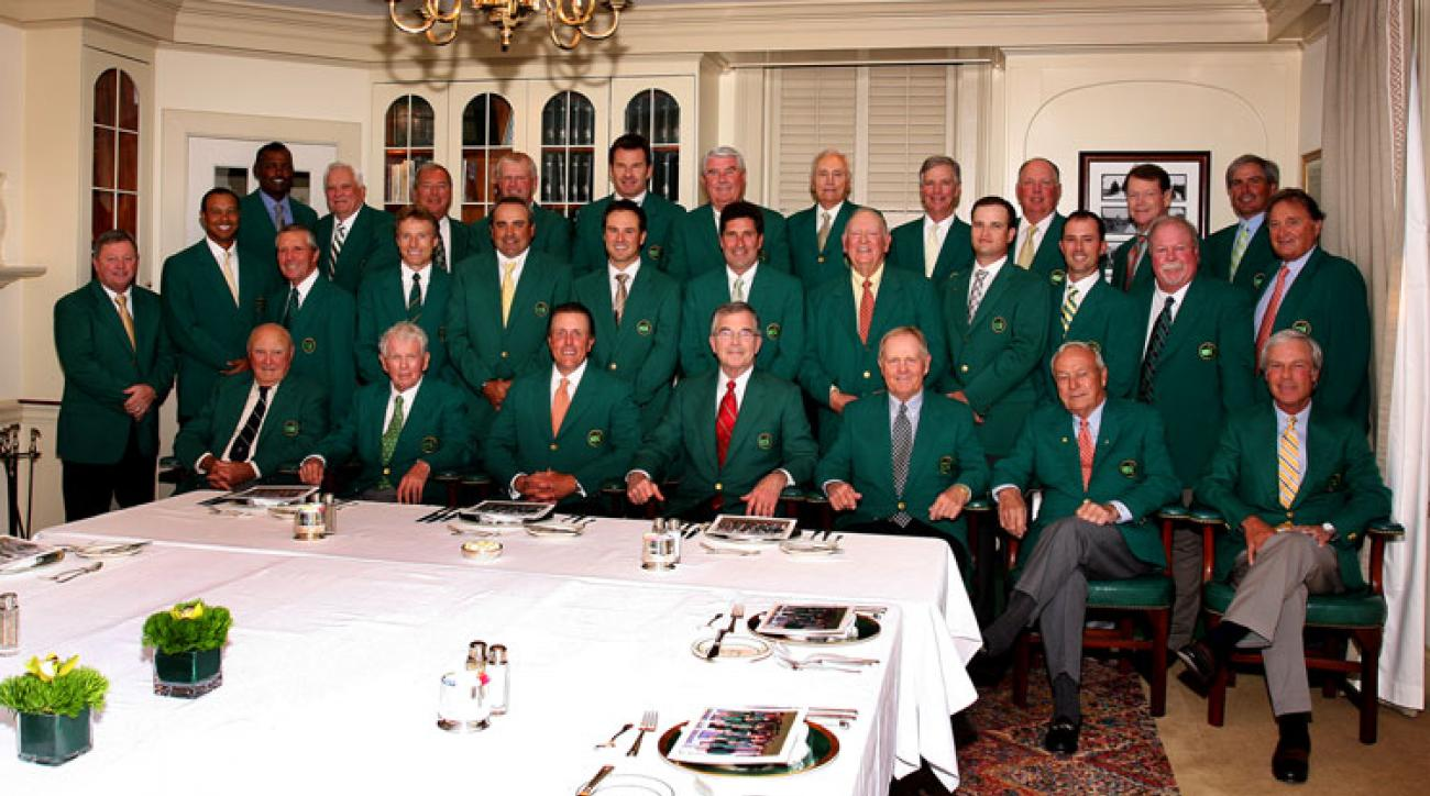 The 2011 Masters Champion Dinner. Traditionally only the club chairman and former Masters champions attend the Tuesday dinner during Masters week.