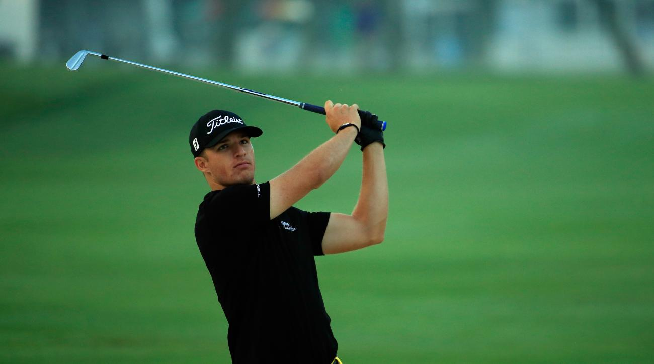 Morgan Hoffmann plays his second shot on the first hole during the second round of Arnold Palmer Invitational at Bay Hill.