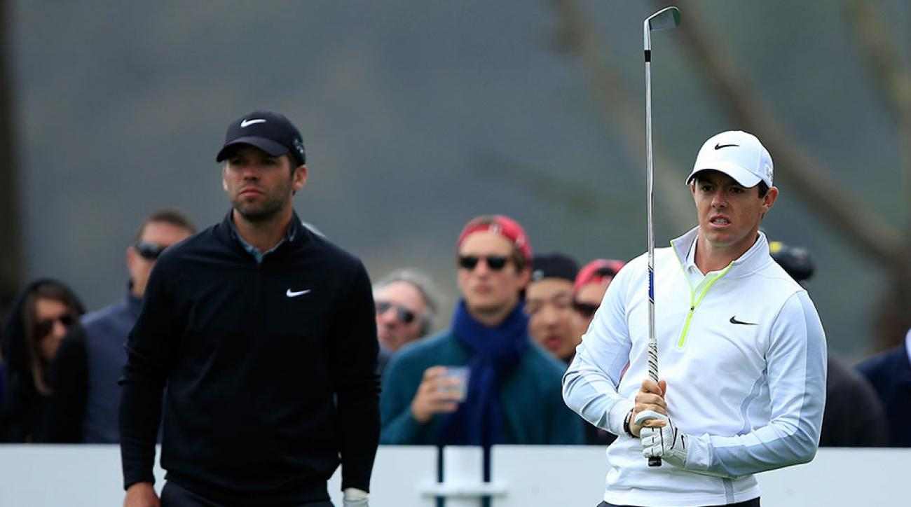 Rory McIlroy and Paul Casey could not finish their match through 21 holes.