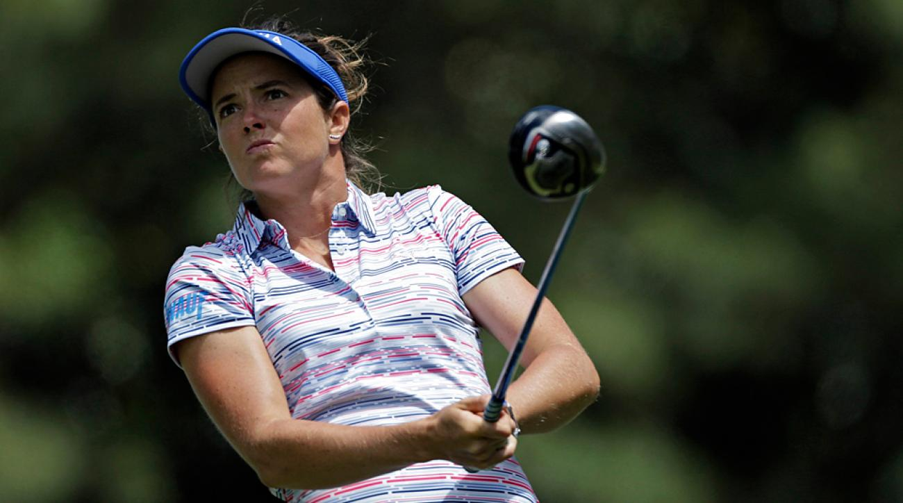 Joanna Klatten during the first round of the LPGA's Kingsmill Championship.