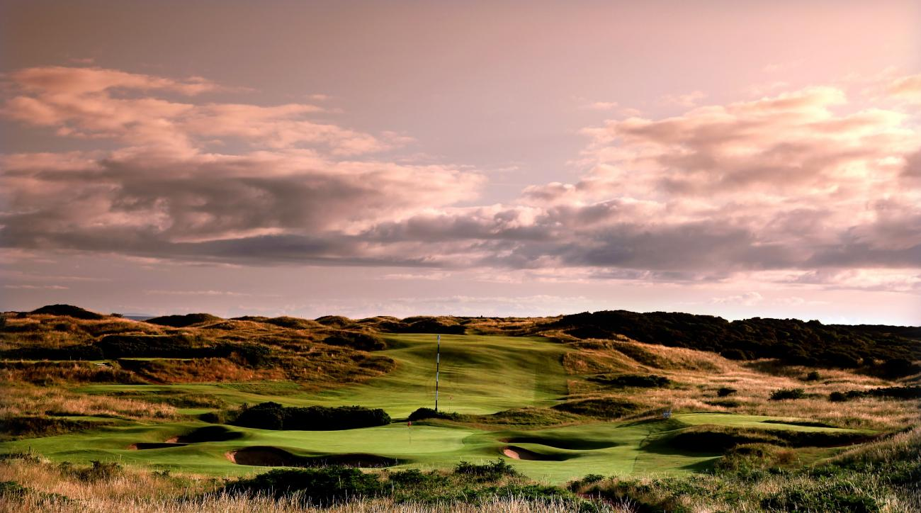 The par-3, 11th hole on the Dunluce Course at Royal Portrush Golf Club in Portrush, Northern Ireland.