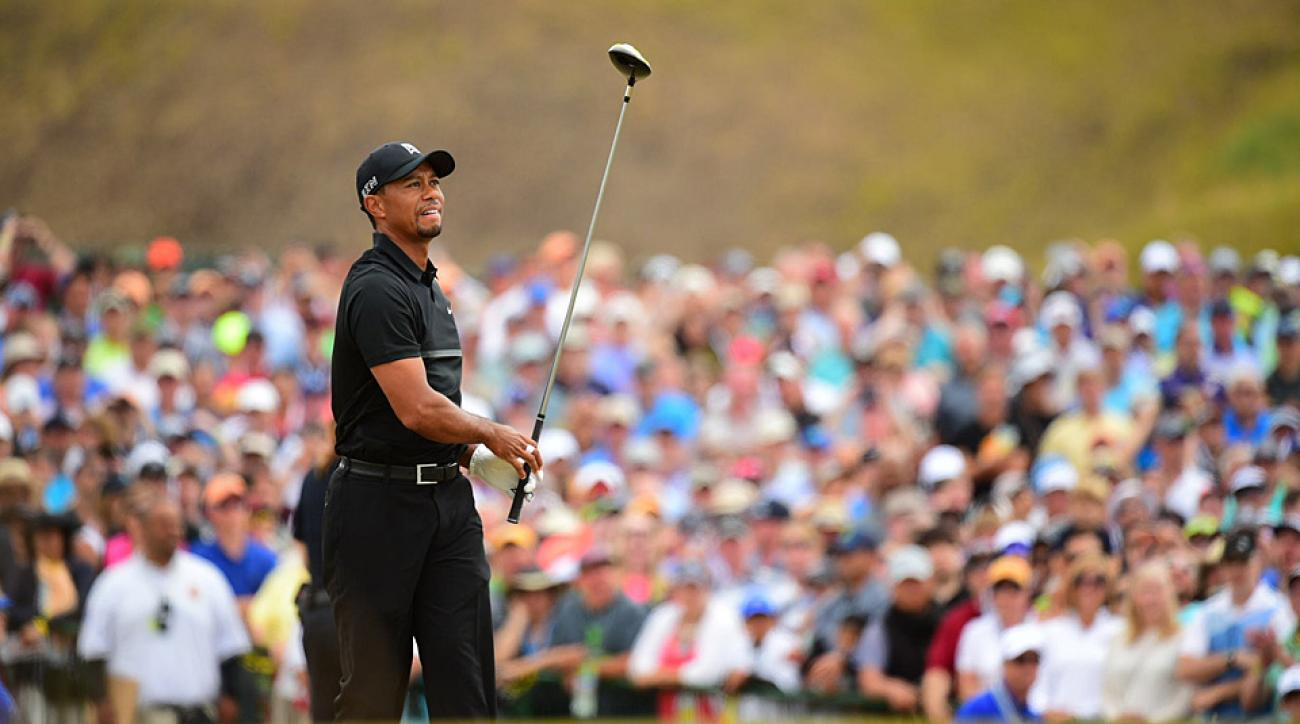 Tiger Woods during the opening round of the 2015 U.S. Open.