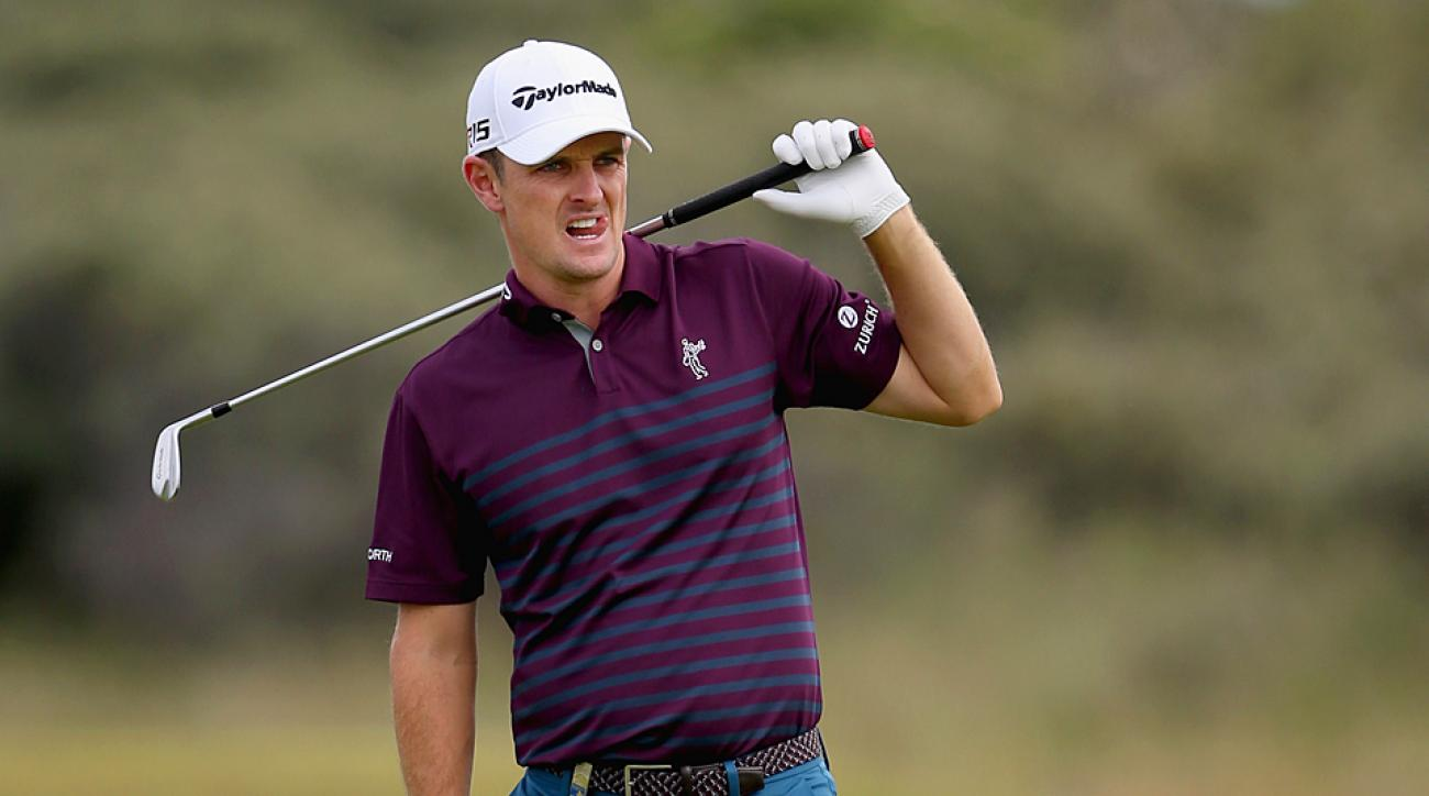 Justin Rose during the 2015 Scottish Open.