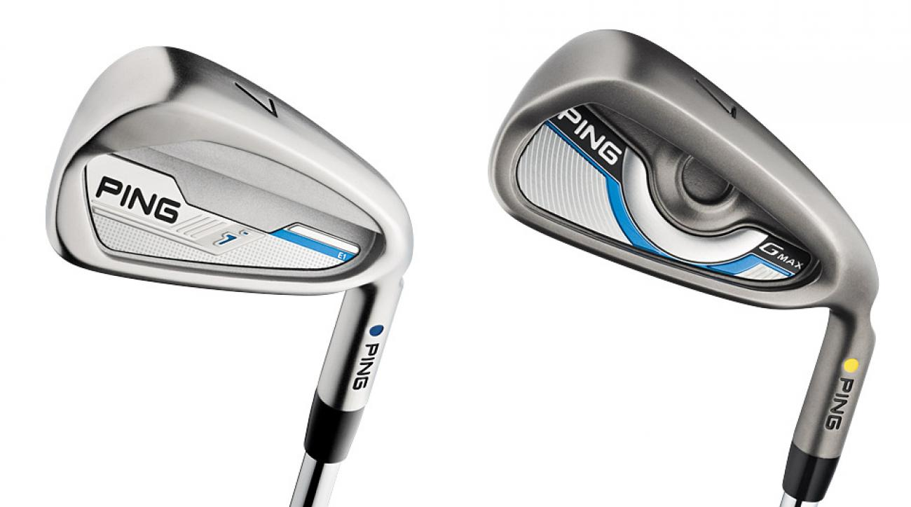 From left to right: Ping i Irons; Ping GMax Irons