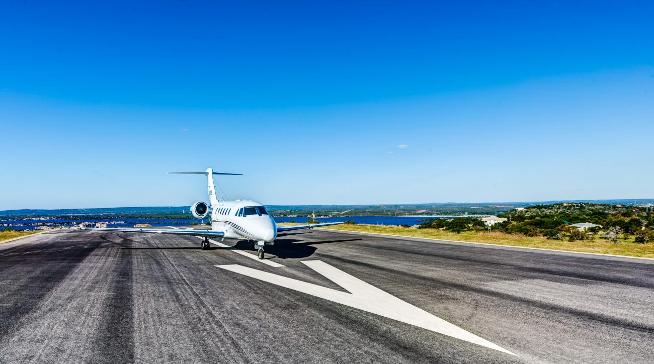 In addition to three RTJ Sr.-designed golf courses, Horseshoe Bay Resort offers 6,000 feet of runway.