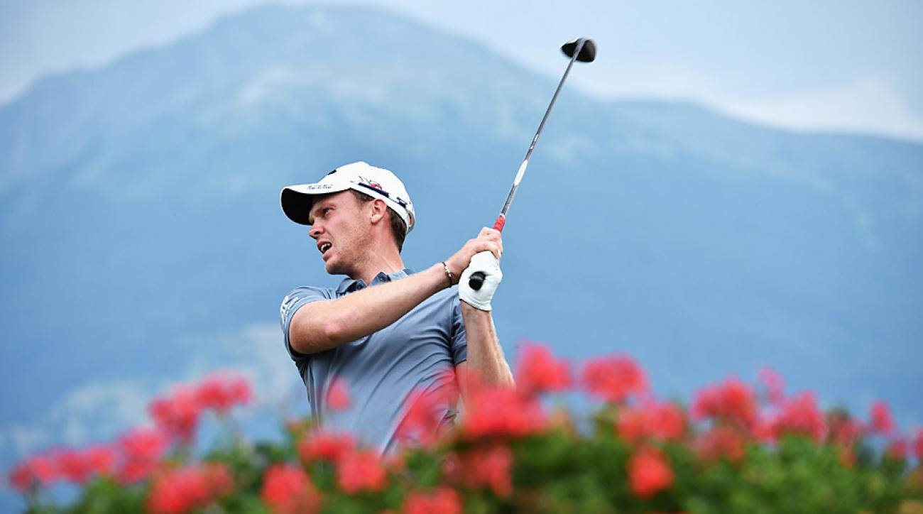 Danny Willett during the second round at the Omega European Masters.