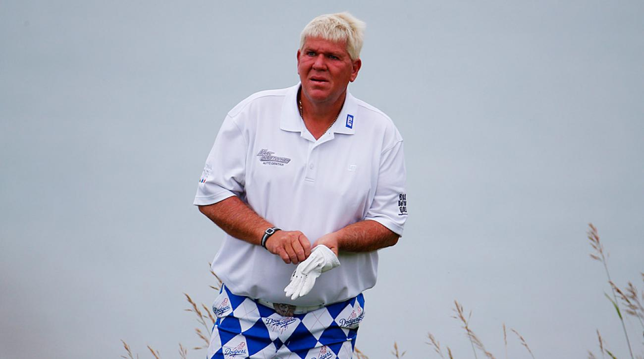 John Daly during the 2015 PGA Championship at Whistling Straits.