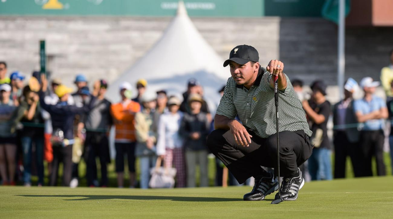 Jason Day during the first day of the Presidents Cup.