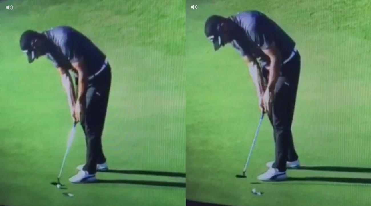 Alvaro Quiros suffered a cruel lipout during the Portugal Masters.