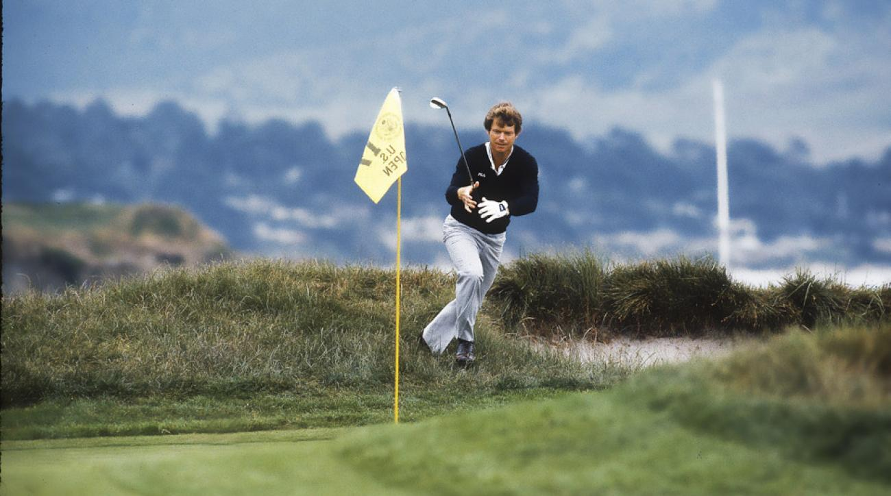 Tom Watson's famous chip-in on the 71st hole at Pebble Beach during the 1982 U.S. Open.
