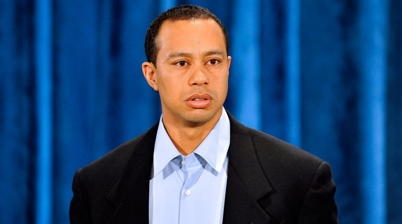 Tiger Woods speaks during a press conference at the PGA Tour headquarters in Ponte Vedra Beach, Florida, on Feb. 19, 2010. It was Woods' first public appearance since admitting to marital infidelity more than two months earlier.