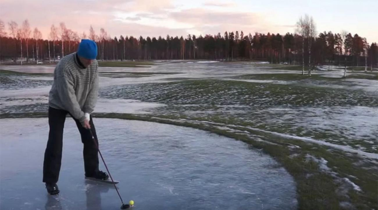 It's never too cold to play golf.