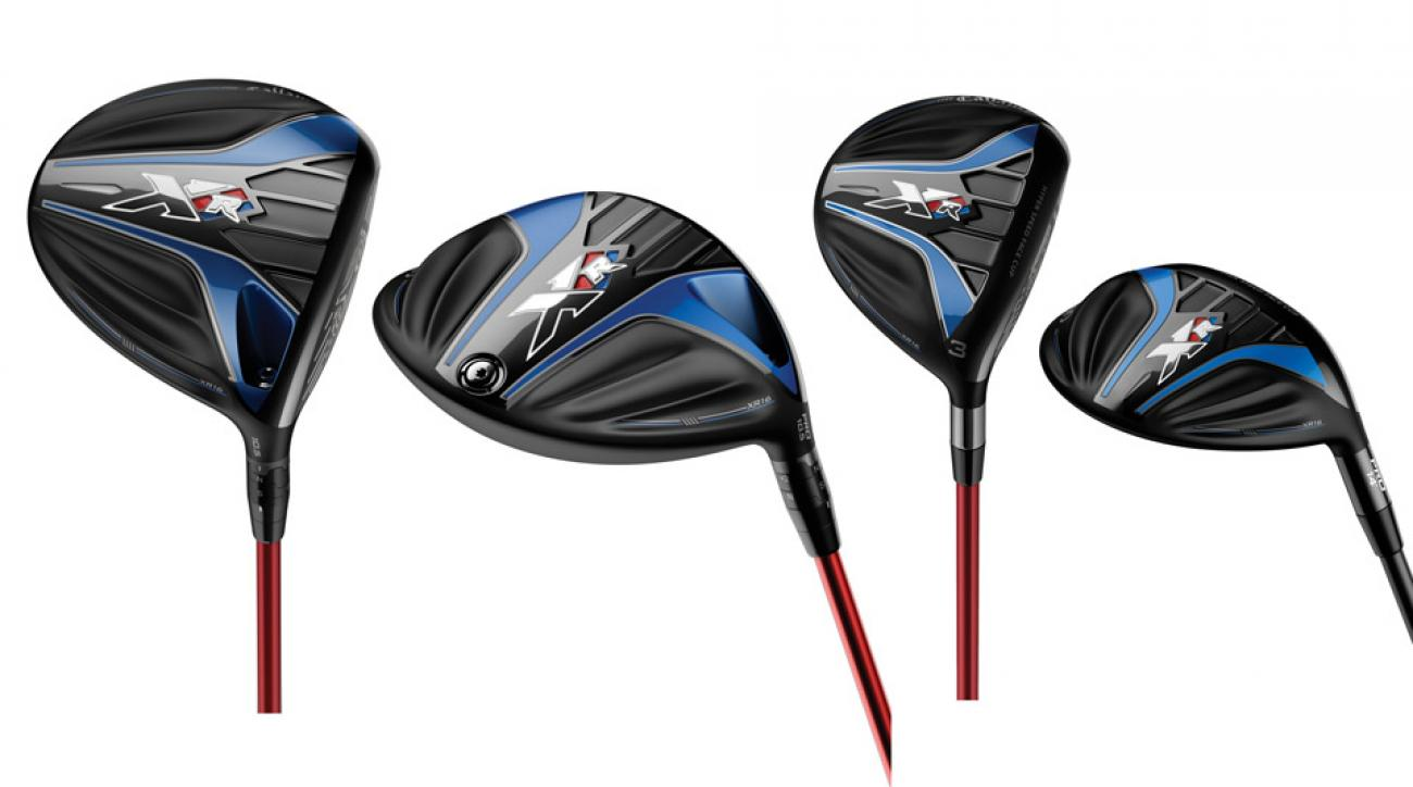 From left to right: Callaway XR16 Driver, Callaway XR16 Pro Driver, Callaway XR16 Fairway Wood, Callaway XR16 Pro Fairway Wood