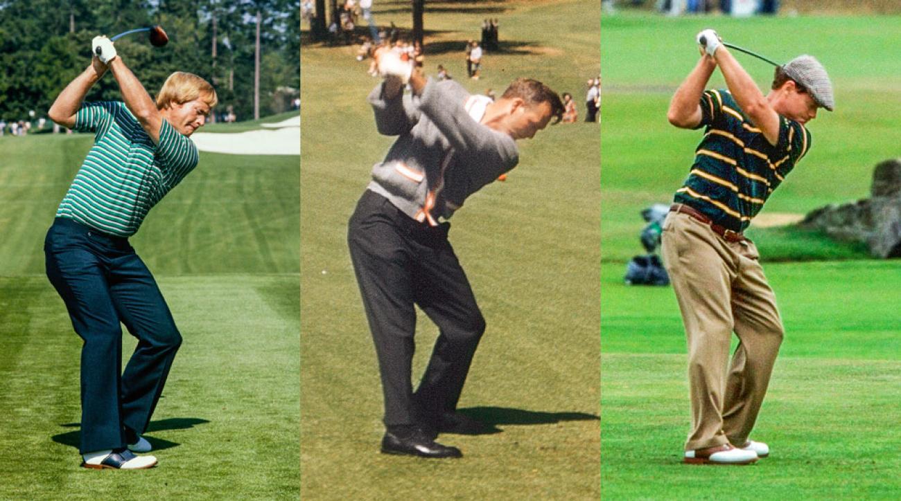 golf swing straight line