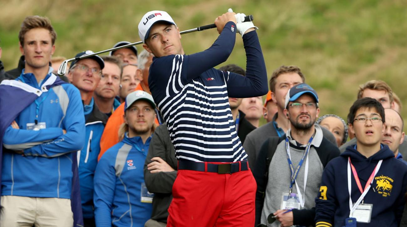 Jordan Spieth made his Ryder Cup debut at Gleneagles in 2014.