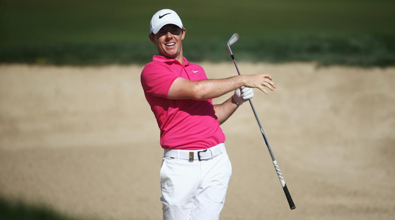 Rory McIlroy during the second round of the Dubai Desert Classic.
