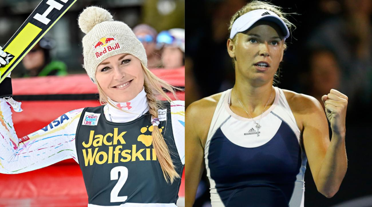 Lindsey Vonn and Caroline Wozniacki are both featured in the 2016 SI Swimsuit issue.